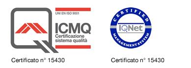 Certificato di Qualità UNI EN ISO 9001:2008 per Valli Granulati